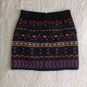 Embroidered mink skirt